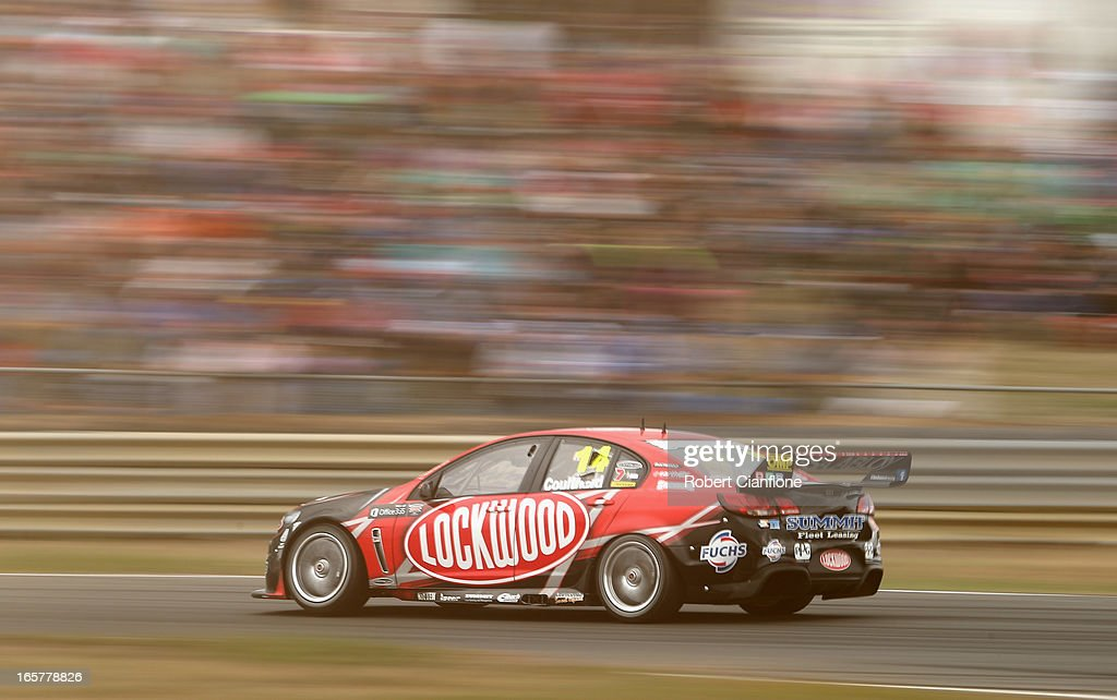 <a gi-track='captionPersonalityLinkClicked' href=/galleries/search?phrase=Fabian+Coulthard&family=editorial&specificpeople=678657 ng-click='$event.stopPropagation()'>Fabian Coulthard</a> drives the #14 Lockwood Racing Holden during race three for round two of the V8 Supercar Championship Series at Symmons Plains Raceway on April 6, 2013 in Launceston, Australia.