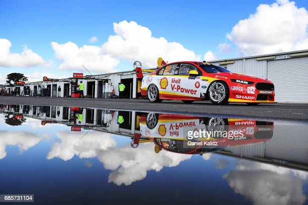 Fabian Coulthard drives the Shell VPower Racing Team Ford Falcon FGX during qualifying for race 9 for the Winton SuperSprint which is part of the...