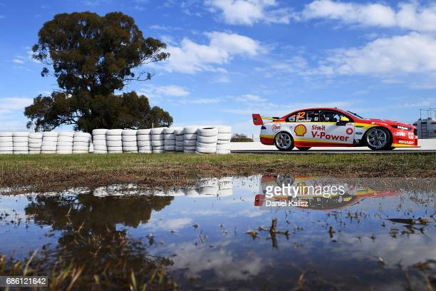 Fabian Coulthard drives the Shell VPower Racing Team Ford Falcon FGX during qualifying for race 10 for the Winton SuperSprint which is part of the...