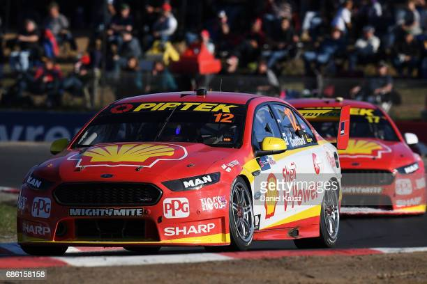 Fabian Coulthard drives the Shell VPower Racing Team Ford Falcon FGX during RACE 10 for the Winton SuperSprint which is part of the Supercars...