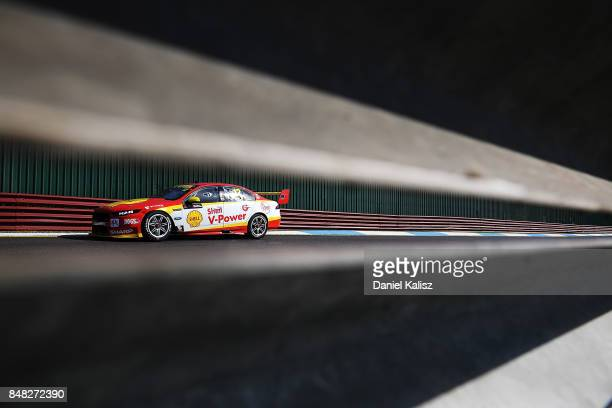 Fabian Coulthard drives the Shell VPower Racing Team Ford Falcon FGX during the Sandown 500 which is part of the Supercars Championship at Sandown...