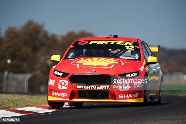 Fabian Coulthard drives the Shell VPower Racing Team Ford Falcon FGX during practice ahead of this weekend's Bathurst 1000 which is part of the...