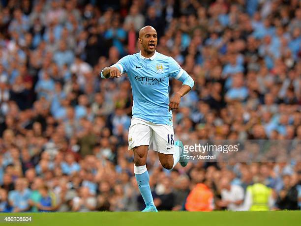 Fabian Delph of Manchester City during the Barclays Premier League match between Manchester City and Watford at the Etihad Stadium on August 29 2015...