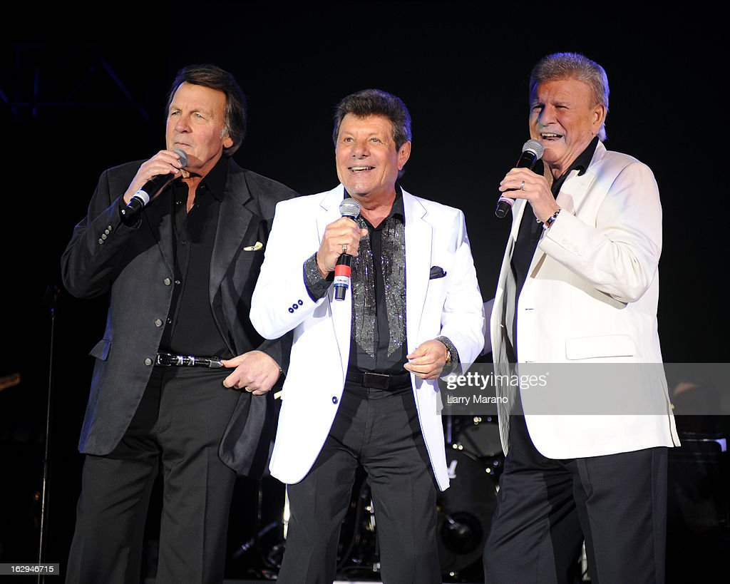 Fabian, Frankie Avalon and Bobby Rydell of The Golden Boys perform at the Pavillon at Seminole Casino Coconut Creek on March 1, 2013 in Coconut Creek, Florida.
