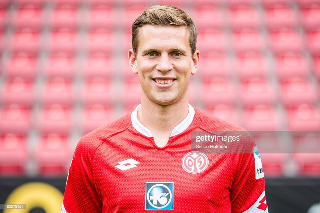 <a gi-track='captionPersonalityLinkClicked' href=/galleries/search?phrase=Fabian+Frei&family=editorial&specificpeople=4783637 ng-click='$event.stopPropagation()'>Fabian Frei</a> poses during the 1. FSV Mainz 05 Team Presentation at Coface Arena on July 12, 2015 in Mainz, Germany.