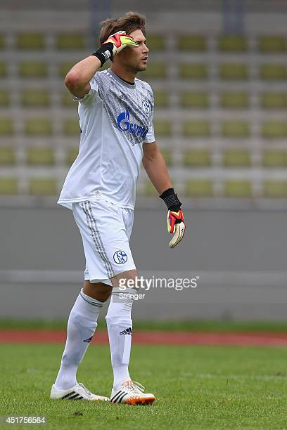 Fabian Giefer of Schalke looks on during the friendly match between TuS Hordel and FC Schalke 04 at Lohrheidestadion on July 5 2014 in Bochum Germany