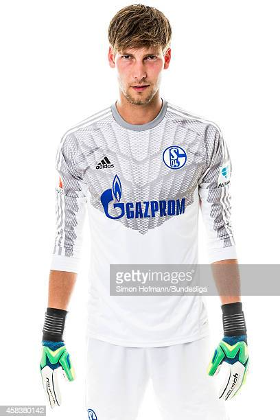 Fabian Giefer poses during the Schalke 04 Media Day at VeltinsArena on July 17 2014 in Gelsenkirchen Germany