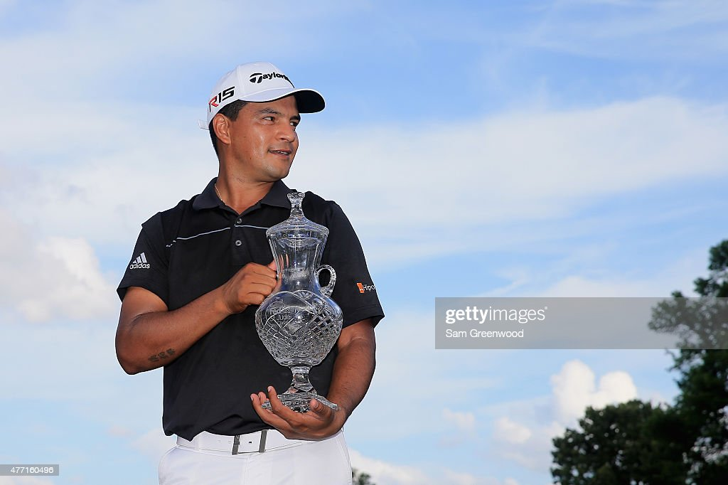 <a gi-track='captionPersonalityLinkClicked' href=/galleries/search?phrase=Fabian+Gomez&family=editorial&specificpeople=4605868 ng-click='$event.stopPropagation()'>Fabian Gomez</a> of Argentina poses with the winner's trophy after winning the final round of the FedEx St. Jude Classic at TPC Southwind on June 14, 2015 in Memphis, Tennessee.