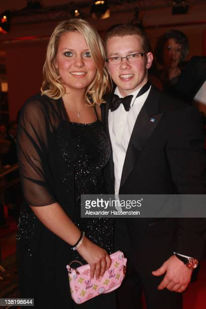 Fabian Hambuechen arrives with Carlione at the 2012 Sports Gala 'Ball des Sports' at the RheinMain Hall on February 4 2012 in Wiesbaden Germany