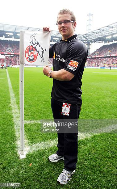 Fabian Hambuechen is seen prior to the Bundesliga match between 1 FC Koeln and 1 FC Nuernberg at RheinEnergieStadion on April 3 2011 in Cologne...