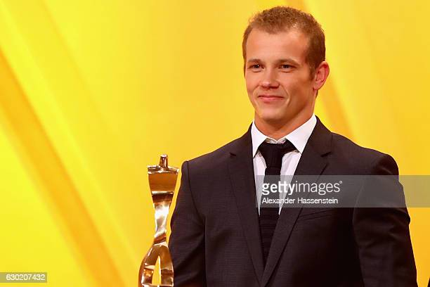 Fabian Hambuechen wins the Sportler des Jahres 2016 award during the Sportler des Jahres 2016 gala at Kurhaus BadenBaden on December 18 2016 in...