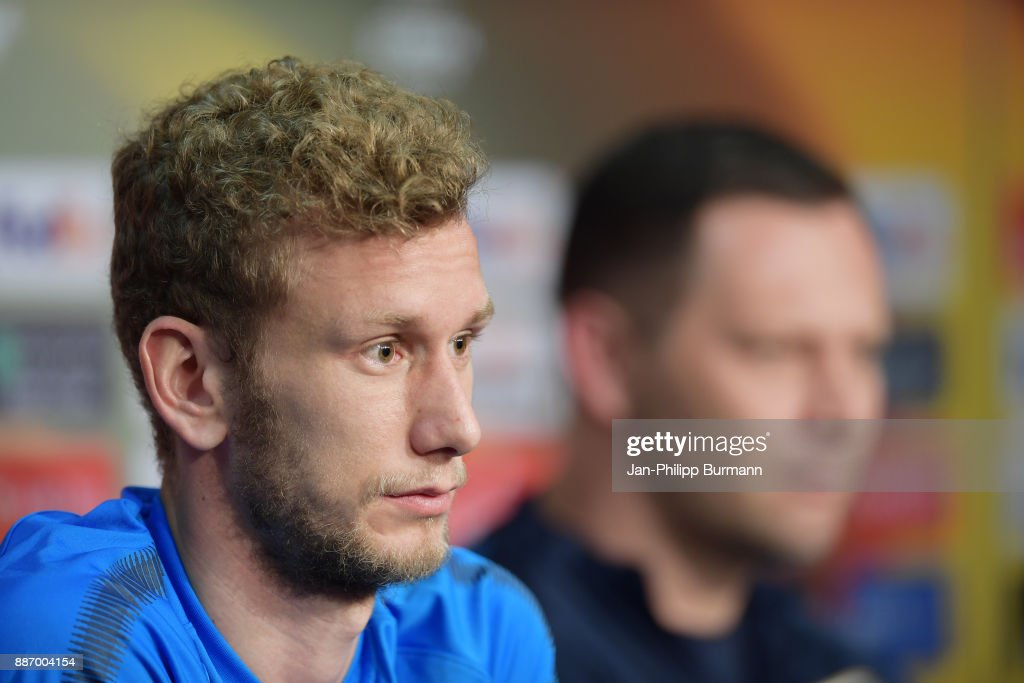 Fabian Lustenberger of Hertha BSC during the press conference on december 6, 2017 in Berlin, Germany.