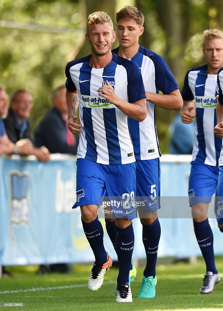 Fabian Lustenberger of Hertha BSC during the training on june 29, 2016 in Berlin, Germany.