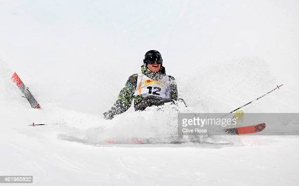 Fabian Meyer of Switzerland crashes out in the Men's Ski Halfpipe Finals during the FIS Freestyle Ski and Snowboard World Championships 2015 on...