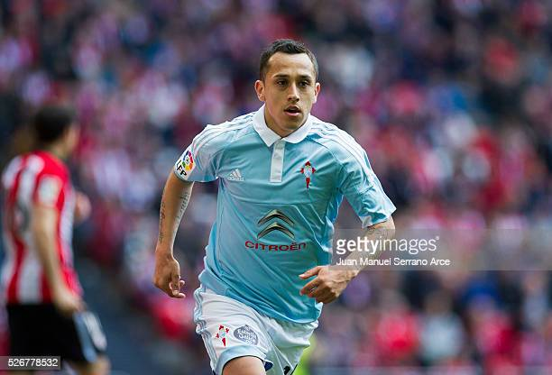 Fabian Orellana of RC Celta de Vigo after scoring goal during the La Liga match between Athletic Club Bilbao and RC Celta de Vigo at San Mames...