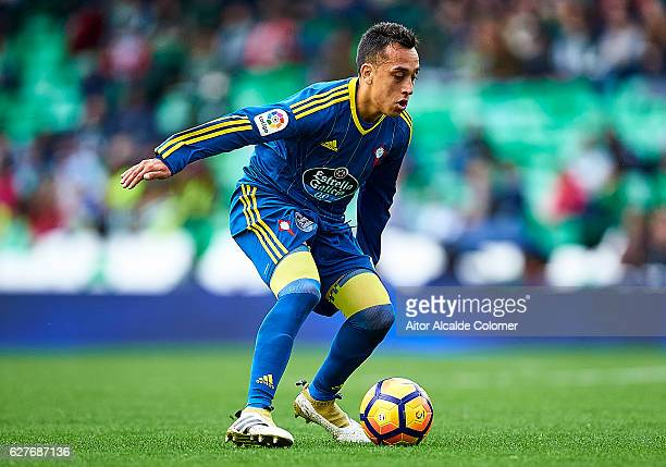 Fabian Orellana of RC Celta de Vigo in action during La Liga match between Real Betis Balompie an RC Celta de Vigo at Benito Villamarin Stadium on...