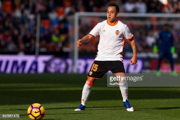 15 Fabian Orellana of Valencia CF during the Spanish La Liga Santander soccer match between Valencia CF vs Athletic Club de Bilbao at Mestalla...