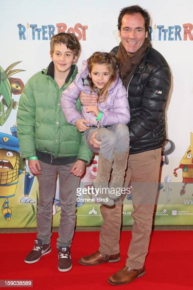 Fabian Pauline and Thomas Ohrner attend the Ritter Rost Premiere on January 6 2013 in Munich Germany