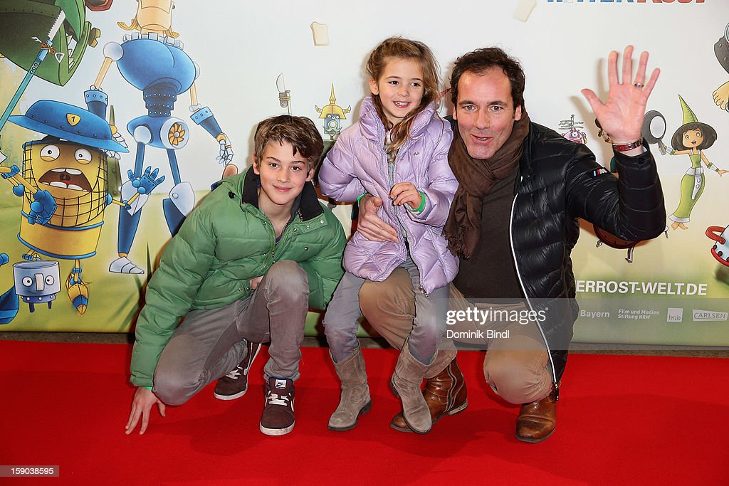 Fabian, Pauline and Thomas Ohrner attend the Ritter Rost Premiere on January 6, 2013 in Munich, Germany.