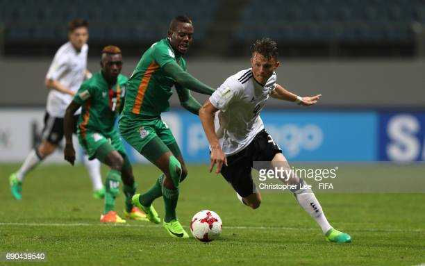 Fabian Reese of Germany turns away from Boyd Musonda of Zambia during the FIFA U20 World Cup Korea Republic 2017 Round of 16 match between Zambia and...