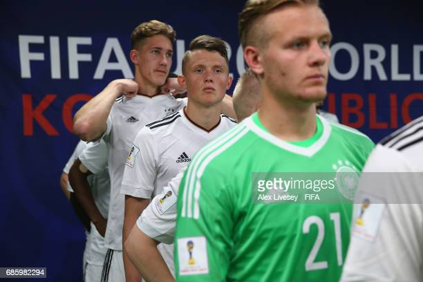 Fabian Reese of Germany waits in the tunnel prior to the FIFA U20 World Cup Korea Republic 2017 group B match between Venezuela and Germany at...