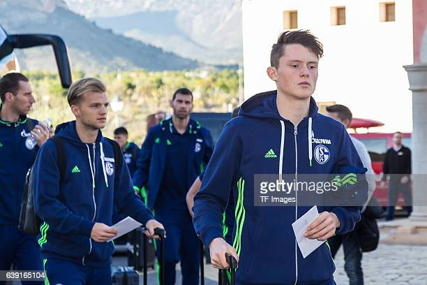 Fabian Reese of Schalke before the Training Camp of FC Schalke 04 at Hotel Melia Villaitana on January 04 2017 in Benidorm Spain