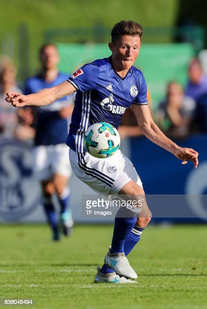 Fabian Reese of Schalke controls the ball during the preseason friendly match between FC Schalke 04 and SD Eibar on July 30 2017 in Mittersill Austria