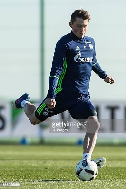 Fabian Reese of Schalke in action during the Training Camp of FC Schalke 04 at Hotel Melia Villaitana on January 08 2017 in Benidorm Spain