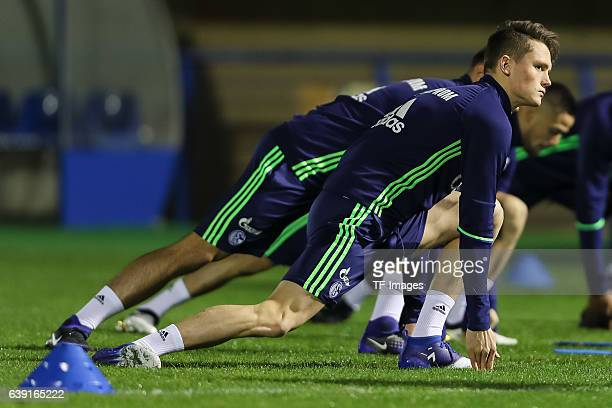 Fabian Reese of Schalke in action during the Training Camp of FC Schalke 04 at Hotel Melia Villaitana on January 04 2017 in Benidorm Spain