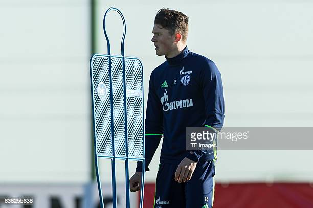 Fabian Reese of Schalke looks on during the Training Camp of FC Schalke 04 at Hotel Melia Villaitana on January 08 2017 in Benidorm Spain