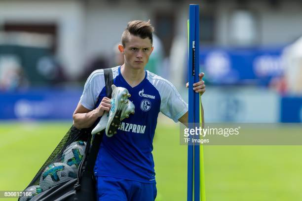 Fabian Reese of Schalke looks on during the Training Camp of FC Schalke 04 on July 29 2017 in Mittersill Austria