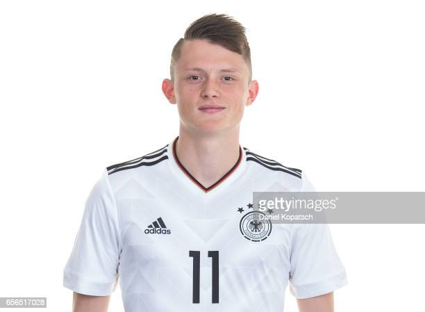Fabian Reese poses during the Germany U20 Team Presentation on March 22 2017 in Homburg Germany