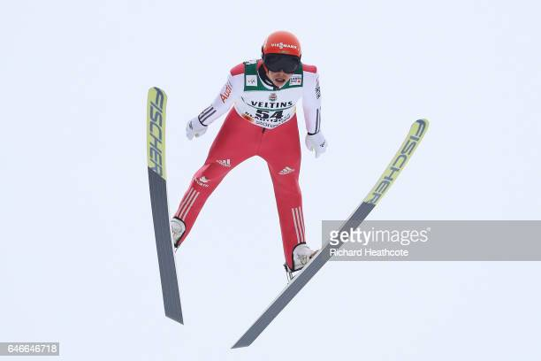 Fabian Riessle of Germany competes in the Men's Nordic Combined HS130 during the FIS Nordic World Ski Championships on March 1 2017 in Lahti Finland