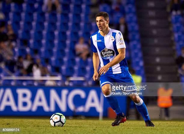 Fabian Schar of Deportivo de La Coruna in action during the Pre Season Friendly match between Deportivo de La Coruna and West Bromwich Albion at...