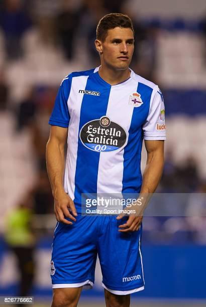 Fabian Schar of Deportivo de La Coruna looks on after the Pre Season Friendly match between Deportivo de La Corua and West Bromwich Albion at Riazor...