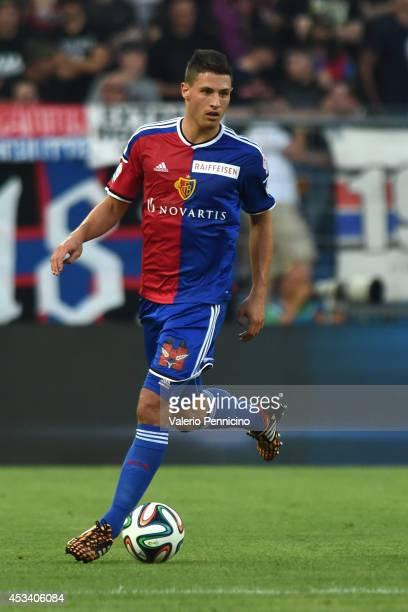 Fabian Schar of FC Basel in action during the Raiffeisen Super League match between FC Basel and FC Zurich at St JakobPark on August 9 2014 in Basel...