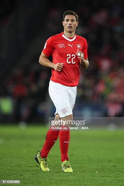 Fabian Schar of Switzerland during the FIFA 2018 World Cup Qualifier PlayOff Second Leg between Switzerland and Northern Ireland at St JakobPark on...
