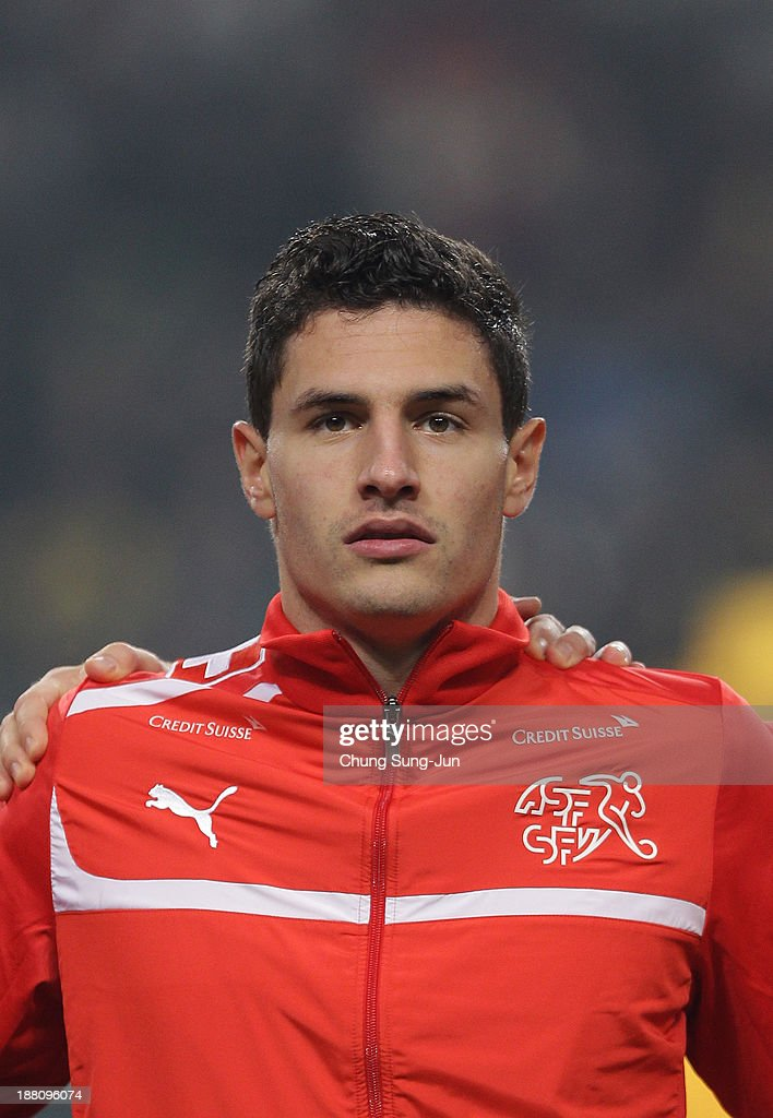 Fabian Schar of Switzerland during the international friendly match between South Korea and Switzerland at the Seoul World Cup Stadium on November 15, 2013 in Seoul, South Korea.
