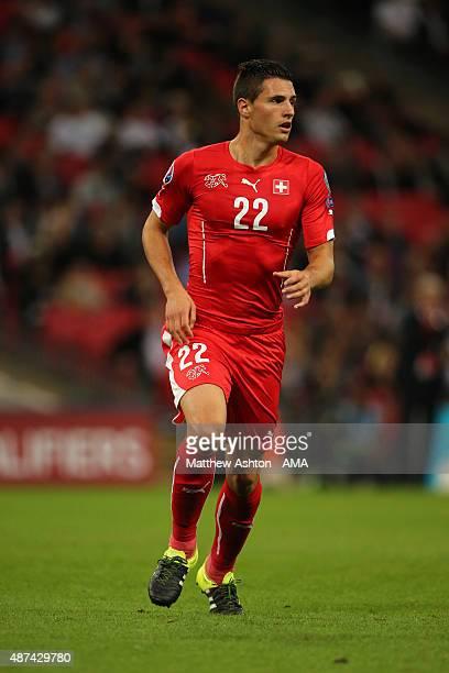 Fabian Schar of Switzerland during the UEFA EURO 2016 Qualifier Group E England v Switzerland on September 8 2015 in London United Kingdom