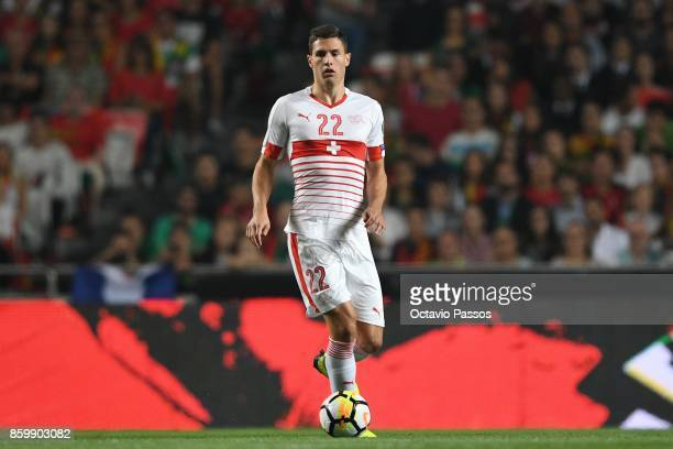 Fabian Schar of Switzerland in action during the FIFA 2018 World Cup Qualifier between Portugal and Switzerland at the Luz Stadium on October 10 2017...