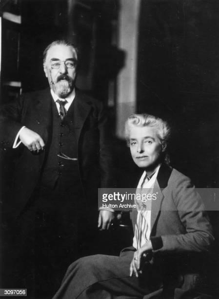 Fabian socialist Sydney Webb and his wife English socialist thinker and writer Beatrice Webb