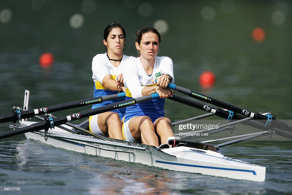 Fabiana Beltrame (R) and Ana Pallassao of Brazil in action during their Mens Double Sculls Final D during the Bearing Point Rowing World Cup Day 2 on the Rotsee on July 9, 2005 in Lucerne, Switzerland.
