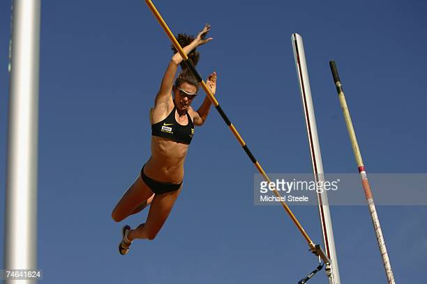 Fabiana Murer of Brazil in the women's pole vault during the IAAF Golden League Bislett Games on June 15 2006 in Oslo Norway
