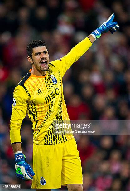 Fabiano of FC Porto reacts during the UEFA Champions League Group H match between Athletic Club and FC Porto at San Mames Stadium on November 5 2014...