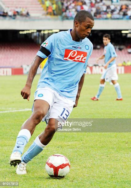 Fabiano Santacroce SSC Napoli during the Serie A match between SSC Napoli v Udinese Calcio at Stadio San Paolo on September 19 2009 in Naples Italy