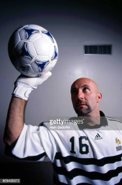 Fabien Barthez during a photoshoot on January 27th 1998 in Paris France