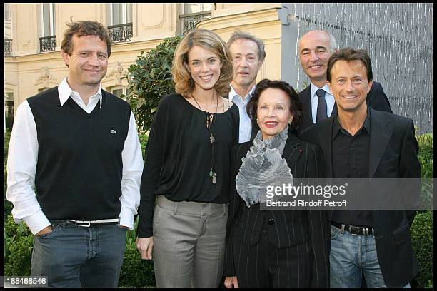 Fabien Galthie Julie Andrieu Gerard Klein Leslie Caron Vincent Perrot at Launch Of The 2009 Edition Of the Gault Millau Food Guide At Fouquet's...
