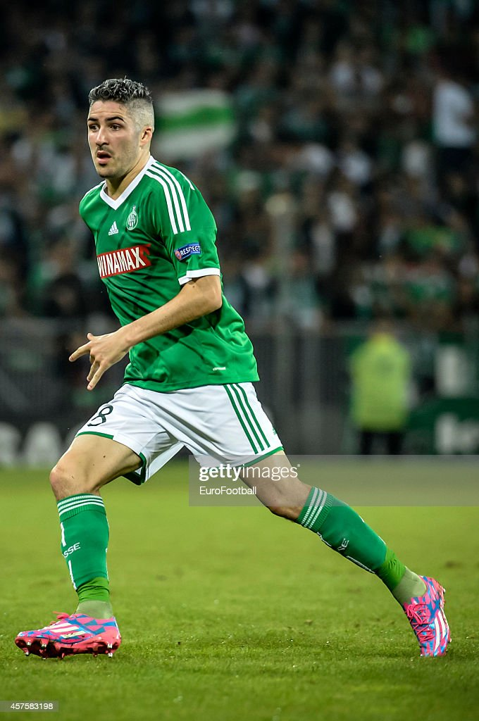 Fabien Lemoine of AS Saint-Etienne in action during the UEFA Europa League football match AS Saint-Etienne against FC Dnipro Dnipropetrovsk at the Geoffroy Guichard Stadium on October 2, 2014 in Saint-Etienne, France.