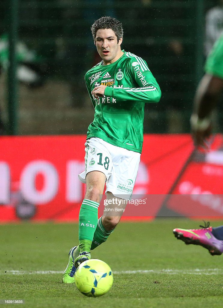 Fabien Lemoine of Saint-Etienne in action during the Ligue 1 match between AS Saint-Etienne ASSE and Paris Saint-Germain FC at the Stade Geoffroy-Guichard on March 17, 2013 in Saint-Etienne, France.