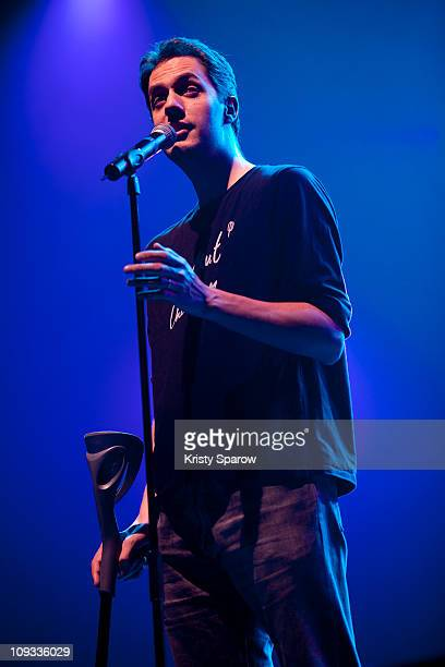 Fabien Marsaud of Grand Corps Malade performs onstage during the Festival Generation Reservoir at L'Olympia on February 21 2011 in Paris France
